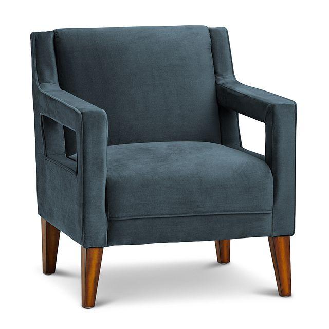 Dawson Dark Blue Velvet Accent Chair (0)
