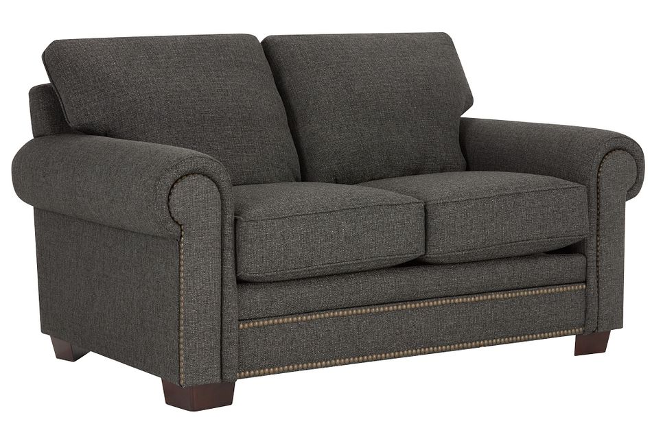 Foster Dark Brown Fabric Loveseat