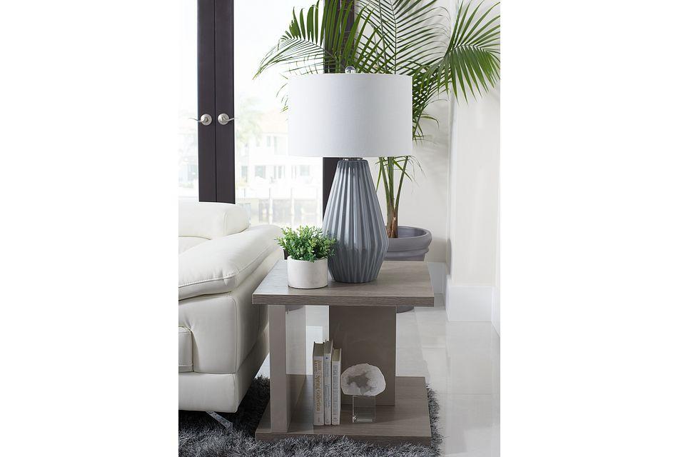 Caelan Light Tone End Table