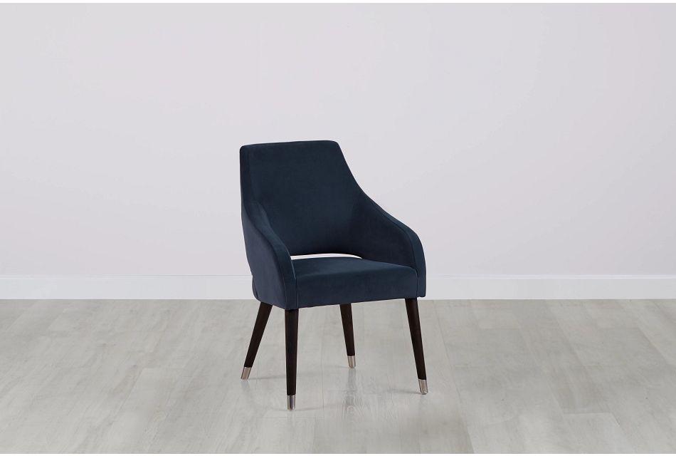 Naveen Dark Gray Velvet Upholstered Arm Chair