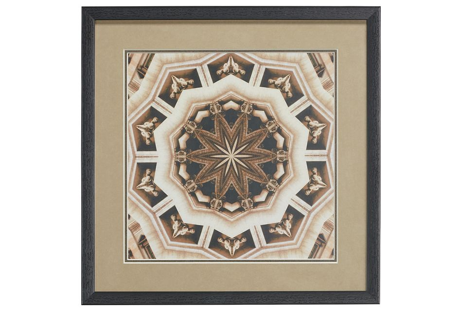 Contour Brown Framed Wall Art