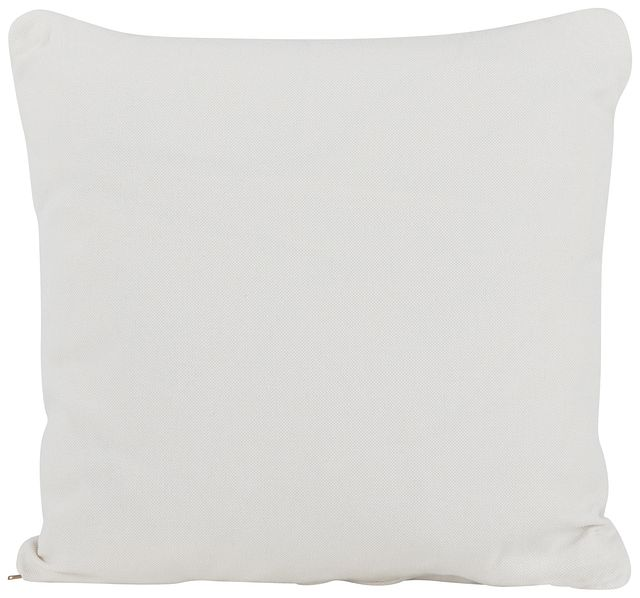 Turner White Fabric Square Accent Pillow (0)