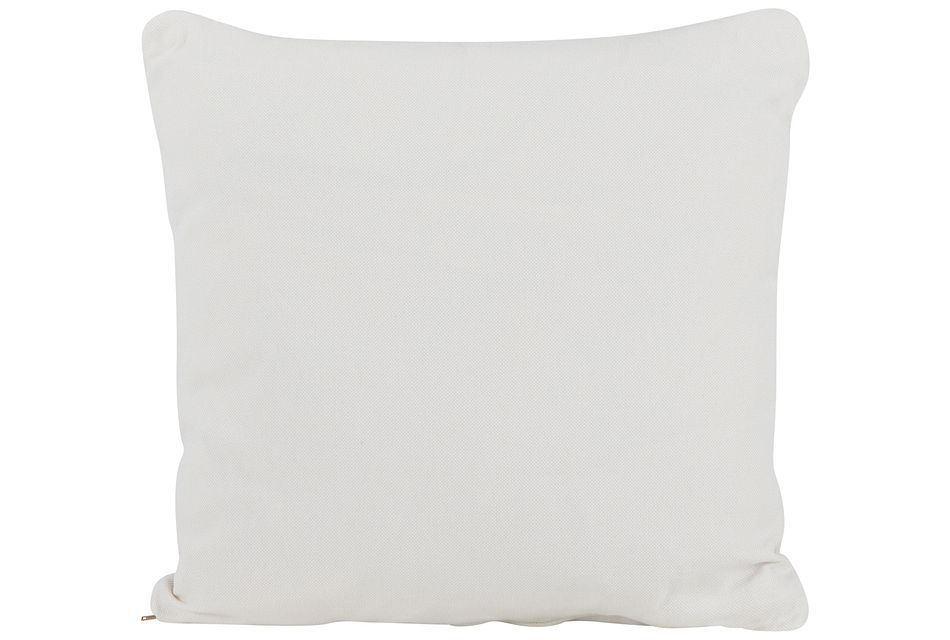 Turner White Fabric Square Accent Pillow