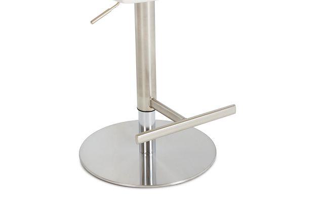 Ellis White Uph Adjustable Stool
