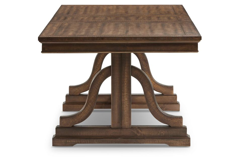 Heron Cove Mid Tone Trestle Table,  (3)