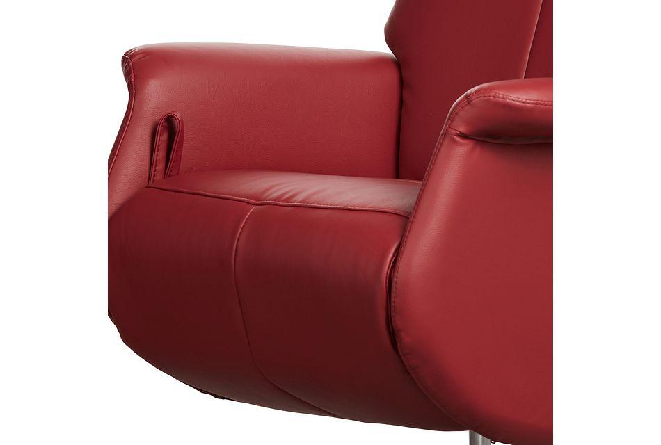 Dixon Red Micro Swivel Recliner