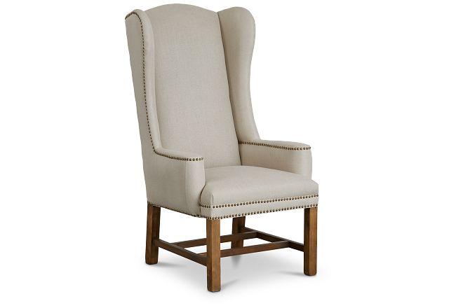 Haddie Beige Upholstered Arm Chair