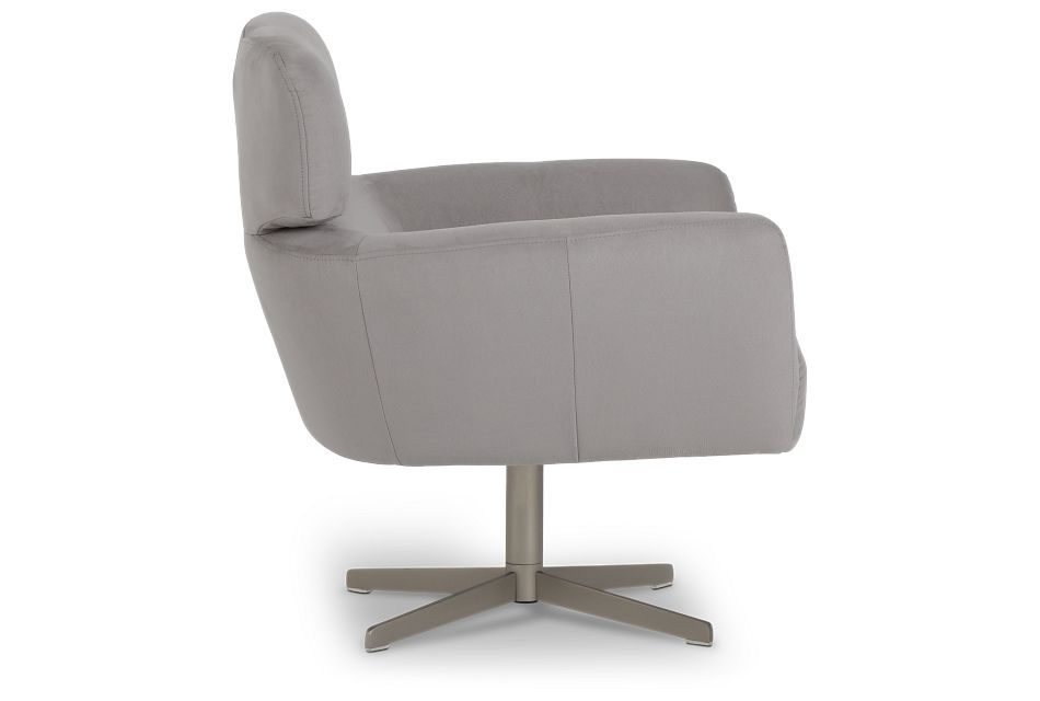 Wynn Light Gray Micro Swivel Accent Chair,  (0)