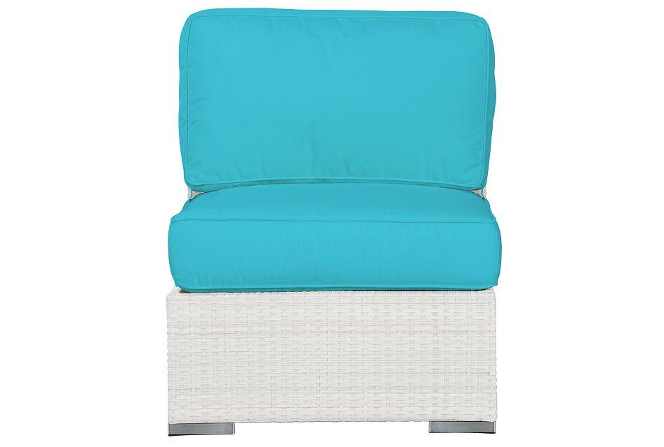 Biscayne Dark Teal   Armless Chair,  (1)