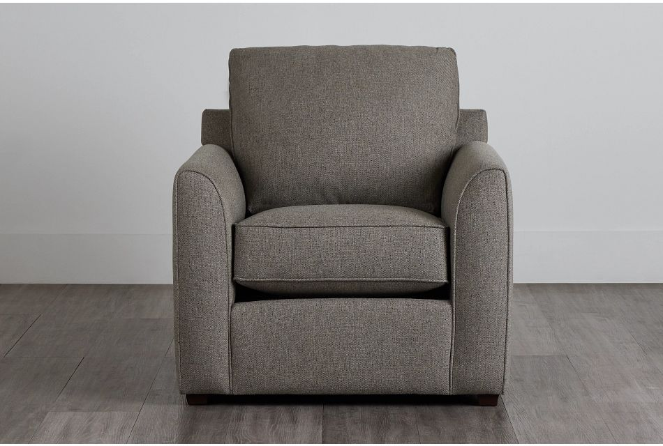 Asheville Brown Fabric Chair,  (0)