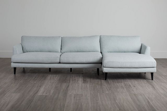 Fremont Light Blue Fabric Right Chaise Sectional (0)
