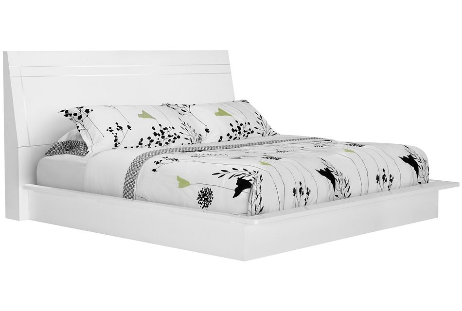 Dimora White Wood Platform Bed