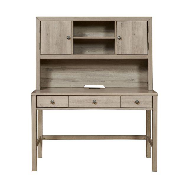 Rivercreek Gray Wood Desk And Hutch (0)