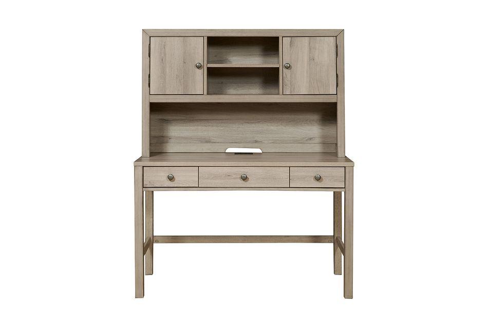 Rivercreek Gray Wood Desk And Hutch