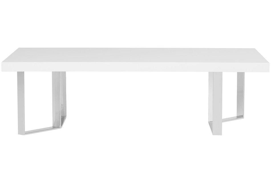 Axel White Rectangular Coffee Table