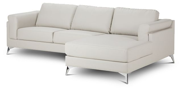Gianna Gray Micro Right Chaise Sectional (1)