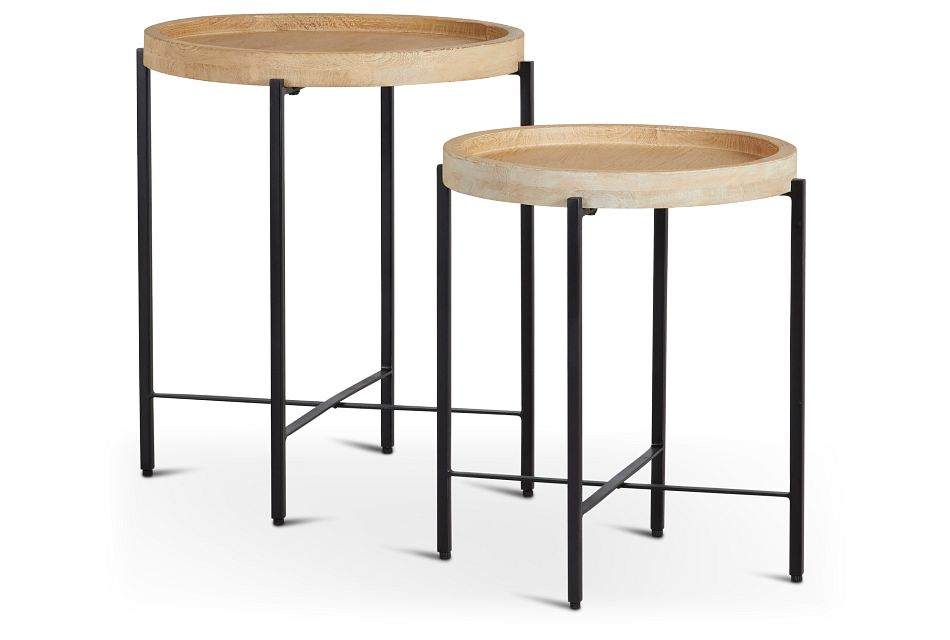 Farida Wood Set Of 2 Accent Table
