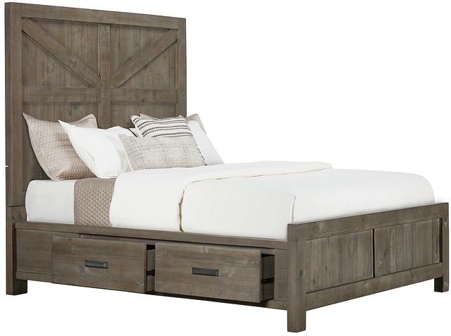 Taryn Gray Left Panel Storage Bed (0)