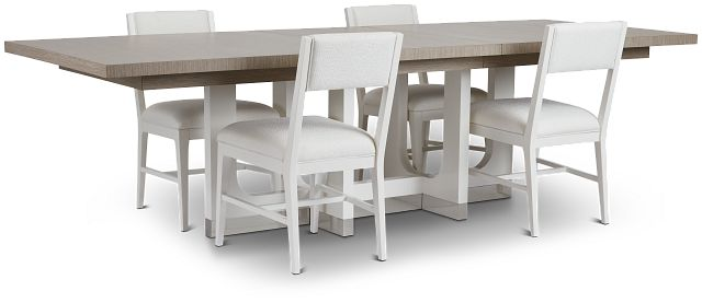 Marley Light Tone Rect Table & 4 Chairs (2)