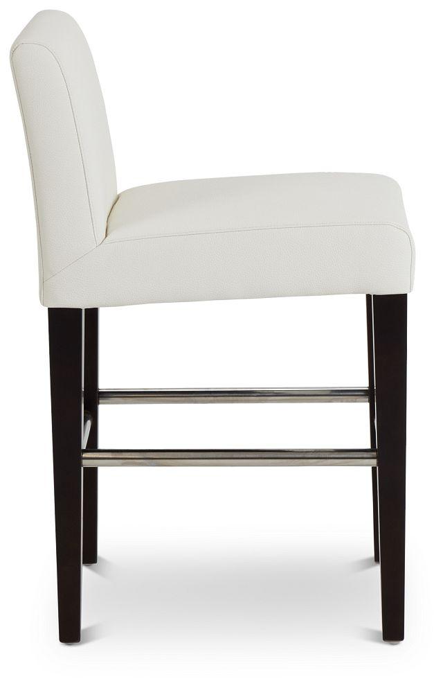 "Cane Whitemicro 24"" Upholstered Barstool (2)"