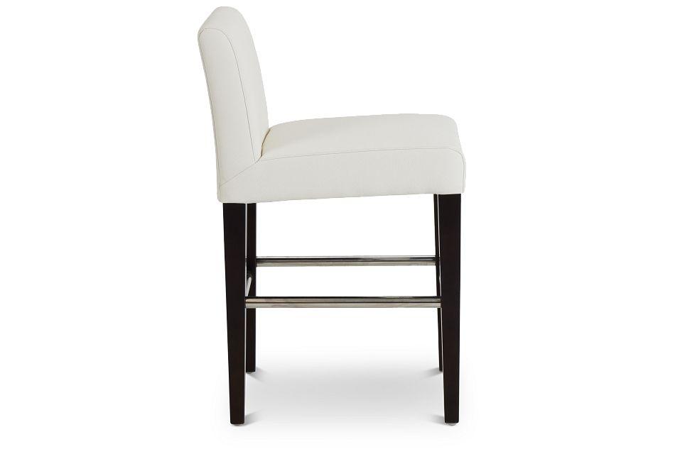 "Cane Whitemicro 24"" Upholstered Barstool"
