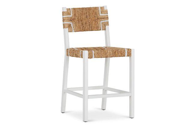 "Nantucket Light Tone 24"" Woven Barstool"