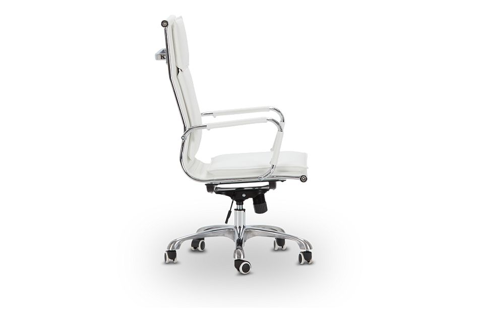Arvada White Uph Desk Chair, %%bed_Size%% (2)