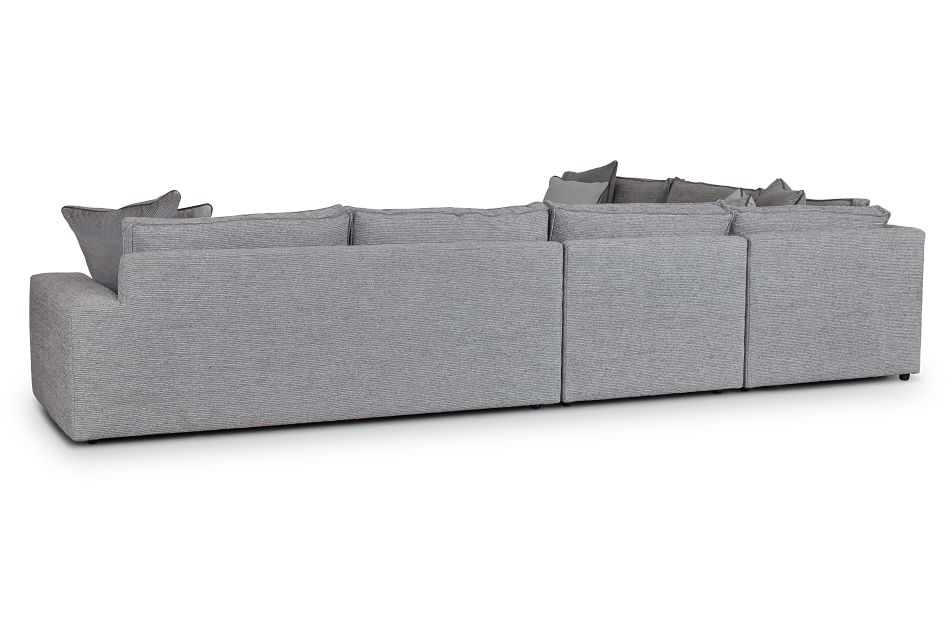 Nest Gray Fabric Medium Two-arm Sectional