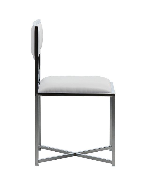 Amalfi White Stnl Steel Side Chair (1)