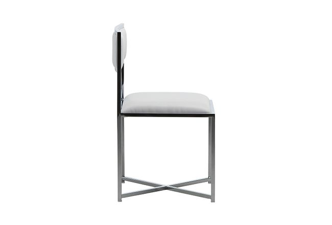 Amalfi White Stnl Steel Side Chair