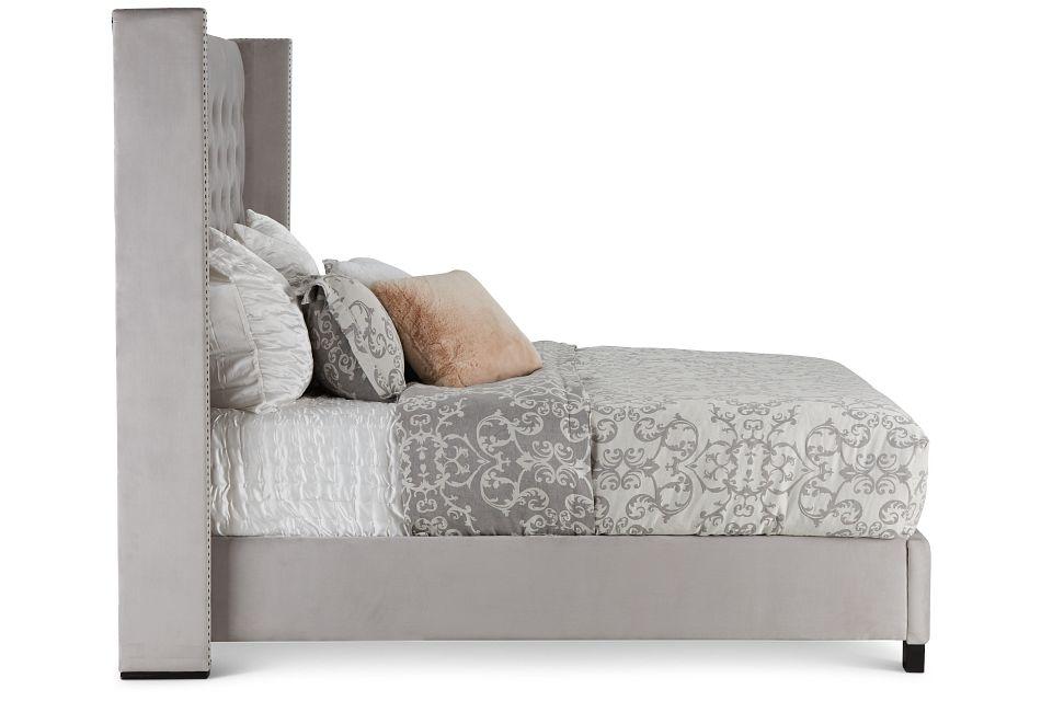 Sloane Light Gray Uph Shelter Bed, King (3)