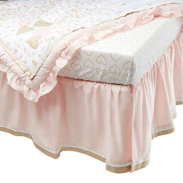 Confetti Light Gold 4 Piece Crib Bedding Set (2)
