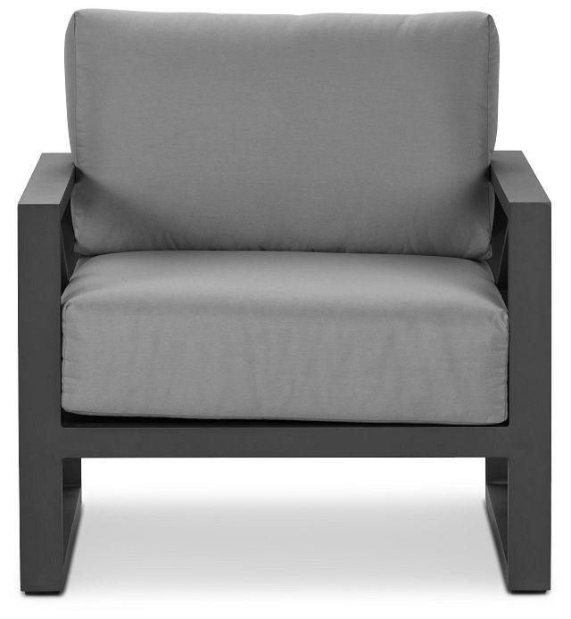 Linear Dark Gray Aluminum Chair (2)