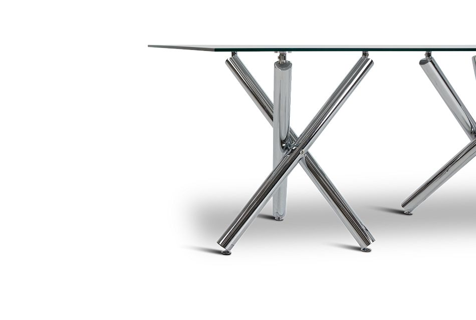 Quincy Gray Glass Table