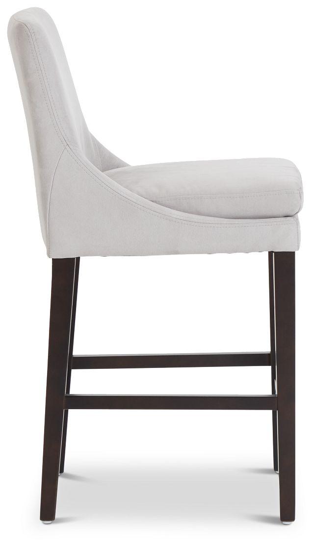 """Tito Light Gray 24"""" Upholstered Barstool (2)"""