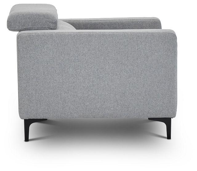 Trenton Light Gray Fabric Chair (2)