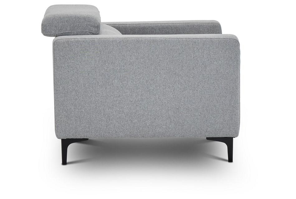 Trenton Light Gray Fabric Chair,  (2)