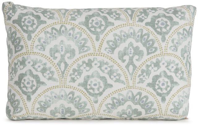 Tomini Green Fabric Lumbar Accent Pillow (0)