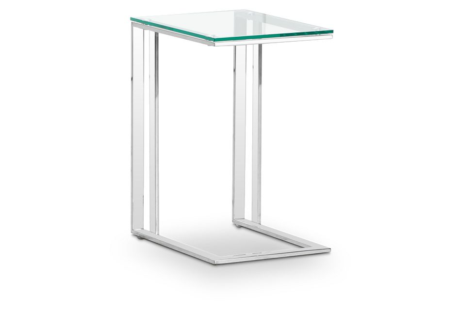 Arco Clear Glass Chairside Table, %%bed_Size%% (2)