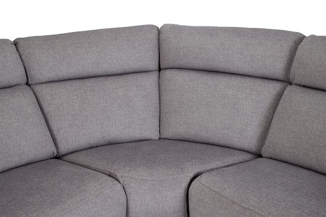 Beckett Gray Micro Large Dual Manually Reclining Two-arm Sectional