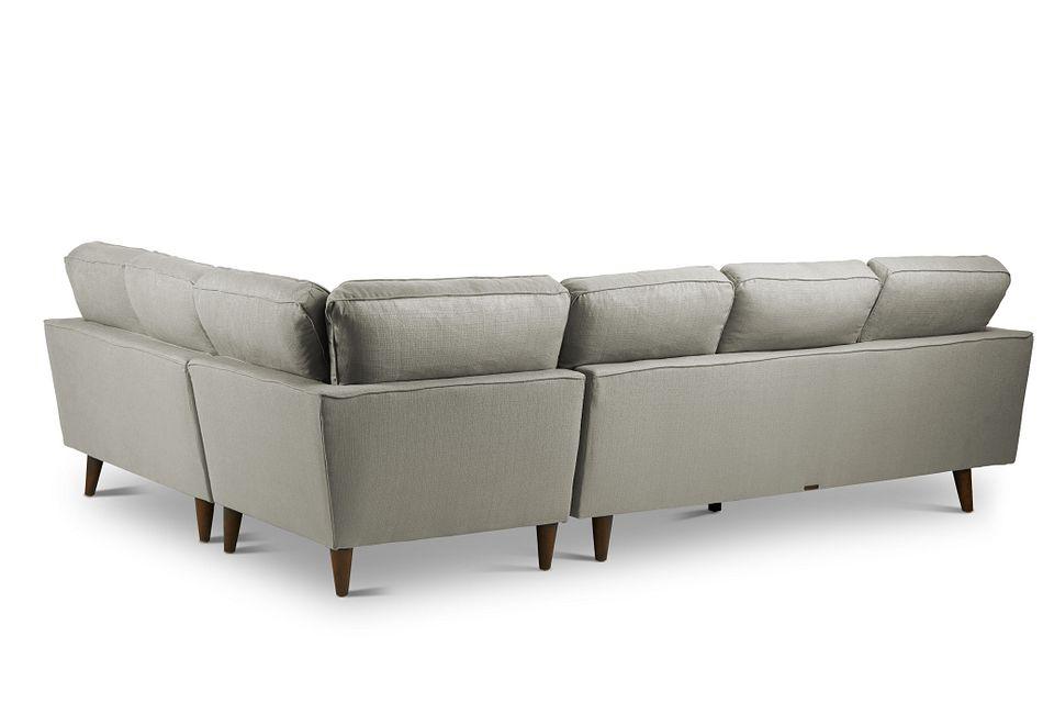 Mid-Century Modern Light Gray  FABRIC Medium 2-Arm Left Facing Sofa Sectional