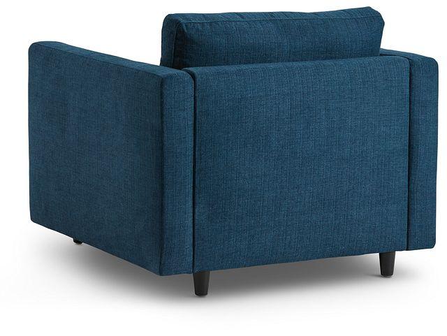 Simone Dark Blue Fabric Chair