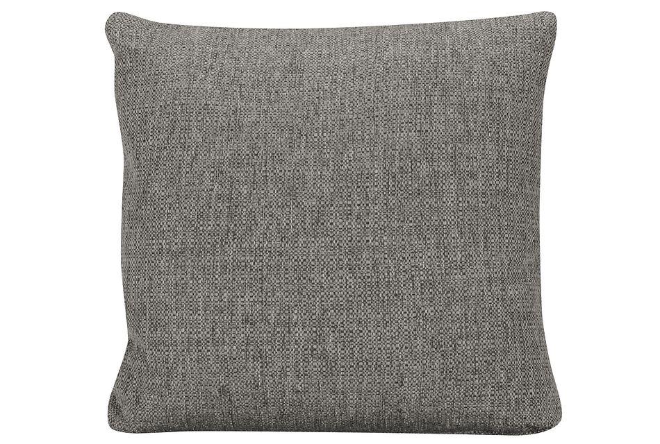 Veronica Dark Gray Fabric Square Accent Pillow