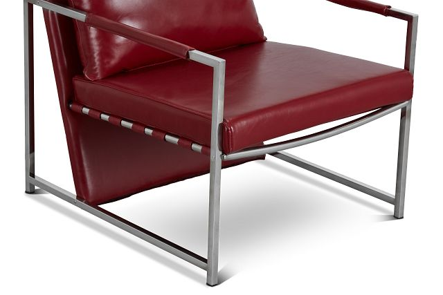 Russell Red Uph Accent Chair