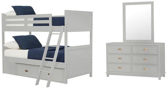 Ryder Gray Bunk Bed Storage Bedroom (2)