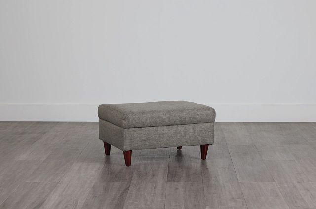 Jensen Dark Gray Fabric Storage Ottoman (0)
