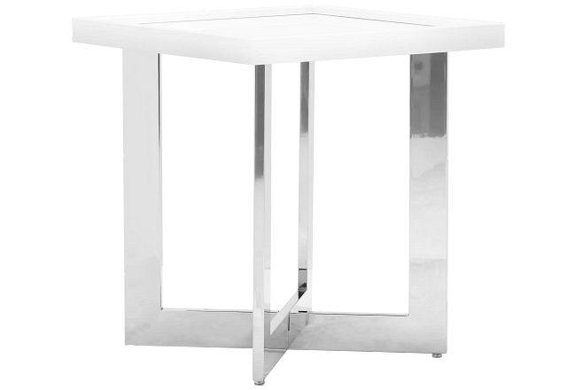 Cortina White Square End Table