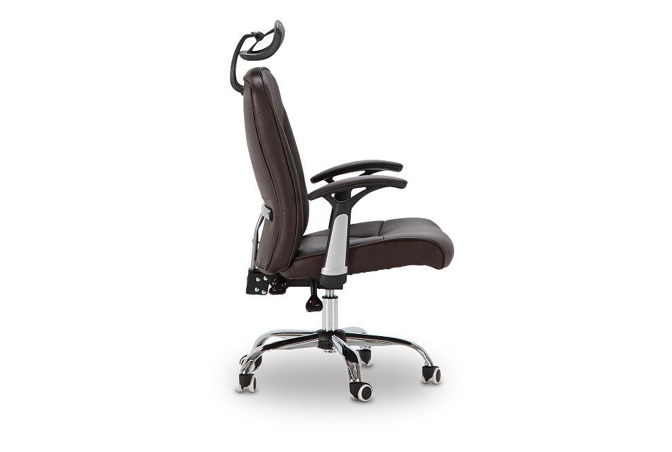 Aurora Brown Uph Desk Chair, %%bed_Size%% (2)
