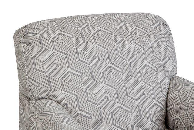 Daylon Light Gray Micro Swivel Accent Chair