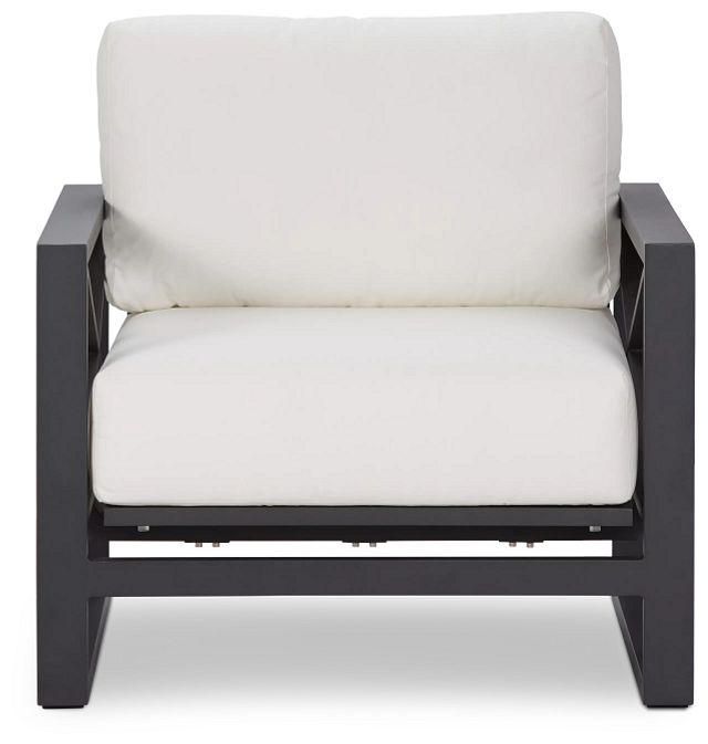 Linear Dark Gray White Rocking Chair (2)